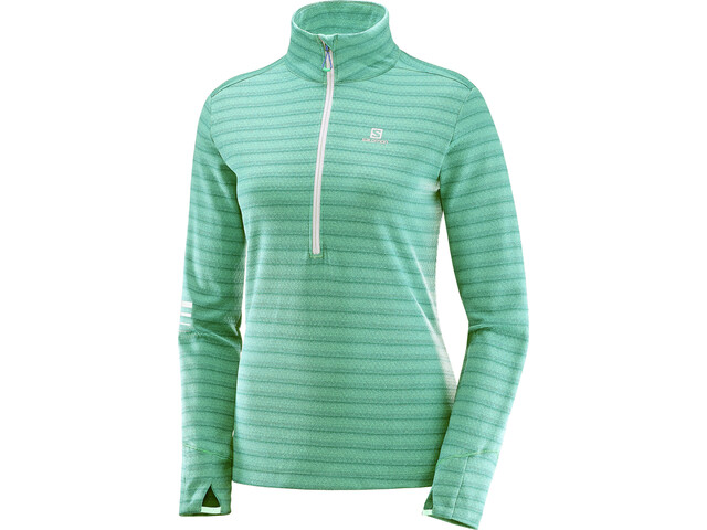 Salomon Lightning Half-Zip Midlayer Damen biscay green/dynasty g